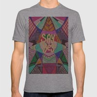 SAY YES Abstract 90's rave pattern Mens Fitted Tee Athletic Grey SMALL
