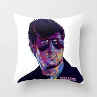 SYLVESTER STALLONE: BAD ACTORS Throw Pillow