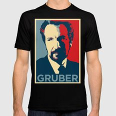 GRUBER Black SMALL Mens Fitted Tee