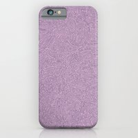 iPhone & iPod Case featuring Abstract #002 Cells (Lavender)  by Jason Castillo