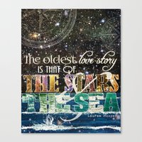 The Stars And The Sea Canvas Print