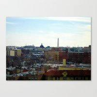 Washington DC Rooftops Canvas Print