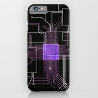 Circuit board purple iPhone 6 Slim Case
