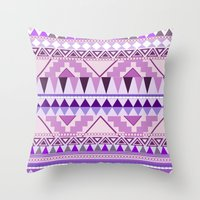 Aztec; Purple Dreams Throw Pillow