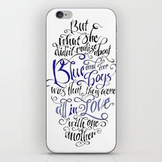Blue And Her Boys iPhone & iPod Skin