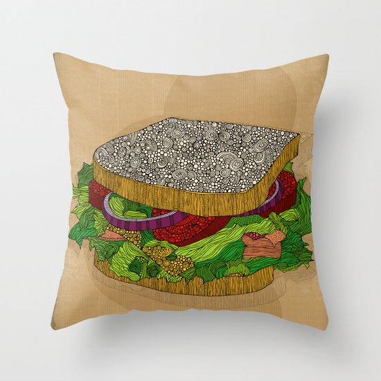 Sanduchito Throw Pillow