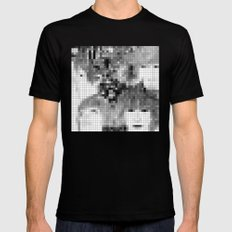 The Fab Four - Revolver Pixel Cover Black Mens Fitted Tee SMALL