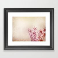 Wear Your Invisible Crow… Framed Art Print