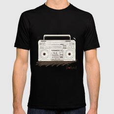 I {❤} RADIO Black Mens Fitted Tee SMALL