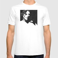Human eye look beyond Mens Fitted Tee White SMALL