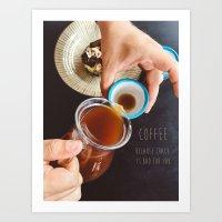 Coffee & Words Art Print