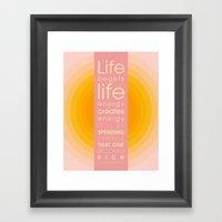 Spend Oneself Framed Art Print
