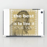 I Did It My Way iPad Case