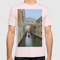 Bridge of Sighs, Venice, Italy,  in the late afternoon sun. Mens Fitted Tee Light Pink SMALL