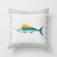 The ELusive Punk Fish 2 Throw Pillow