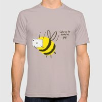 Festival Bees  Mens Fitted Tee Cinder SMALL