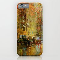 iPhone Cases featuring An evening in Detroit by Ganech joe