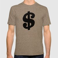 One Dollar Mens Fitted Tee Tri-Coffee SMALL
