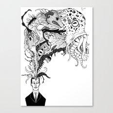 Mr Lovercraft's monsters Canvas Print