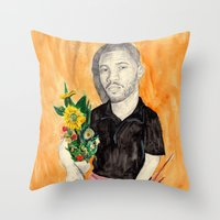 Frank Ocean With Flowers Throw Pillow