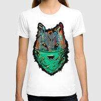 Wolf Mother - Screen Print Edition  Womens Fitted Tee White SMALL