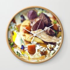 Dinner on the mirror Wall Clock