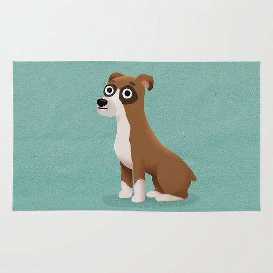 Boxer - Cute Dog Series Area & Throw Rug
