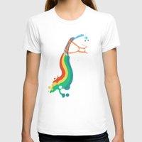 unicorn T-shirts featuring Fat Unicorn on Rainbow Jetpack by Picomodi