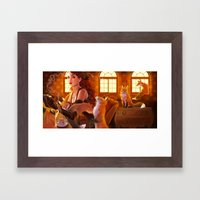 Foxglove Framed Art Print