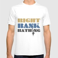 Right Bank Bathing Mens Fitted Tee White SMALL
