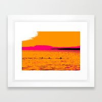 Orca Summer Framed Art Print