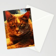 cat in bazaar Stationery Cards