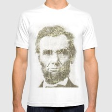 Abraham Lincoln SMALL Mens Fitted Tee White
