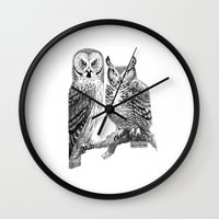 Bubo And Strix Wall Clock