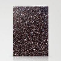 Black Sand IV (Red) Stationery Cards