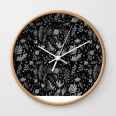 Black spring Wall Clock