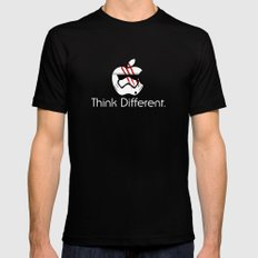 Think Different. Mens Fitted Tee Black SMALL