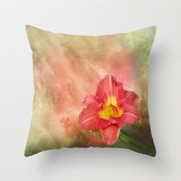 Beautiful Day Lily Throw Pillow
