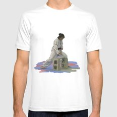 Preparing to Break a Brick White Mens Fitted Tee SMALL