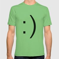 Smiley Mens Fitted Tee Grass SMALL