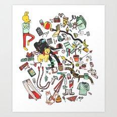 Packing List Art Print