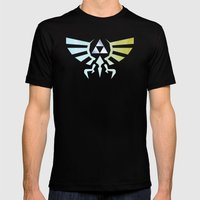 The Legend of Zelda - Hyrule Rising Poster Mens Fitted Tee Black SMALL