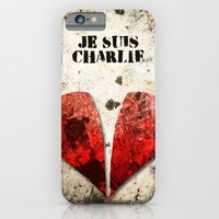 iPhone & iPod Case featuring Je suis Charlie Graphic by Fhil Navarro