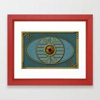 Steampunk Security Framed Art Print