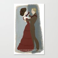 Downton Abbey- Mary & Matthew Canvas Print