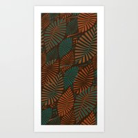 ORGANIC LEAVES Art Print
