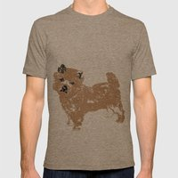 Cairn Terrier Dog Mens Fitted Tee Tri-Coffee SMALL