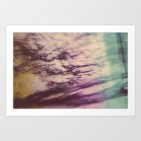 Purple Blue Fluorite Fro… Art Print