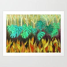 Garden of Eden 2 Art Print