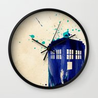 Doctor Who TARDIS Rustic Wall Clock